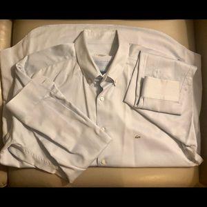 Lacoste Silver Croc Button Down Dress Shirt